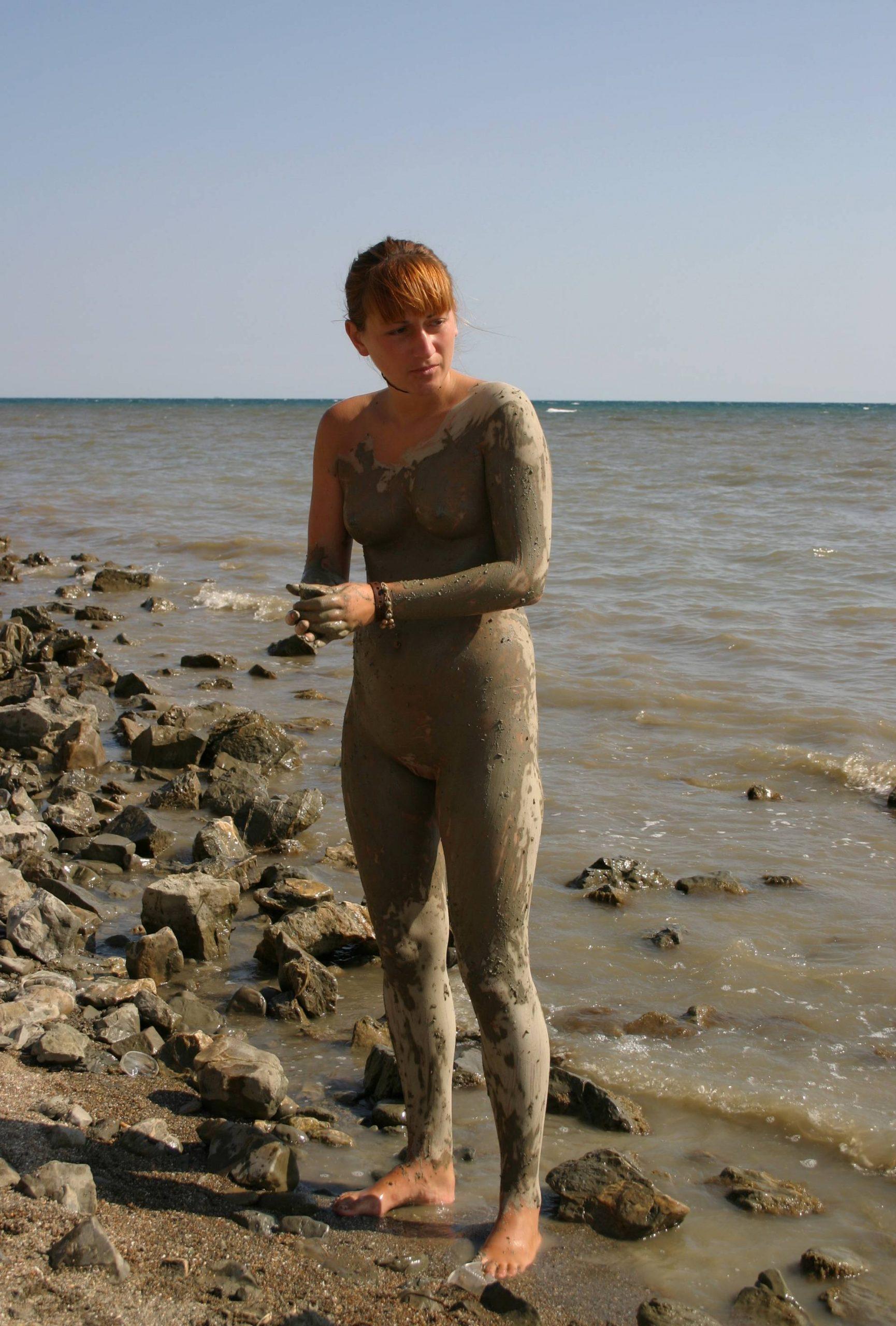 Pure Nudism Photos-Muddy Beach Play Profiles - 3