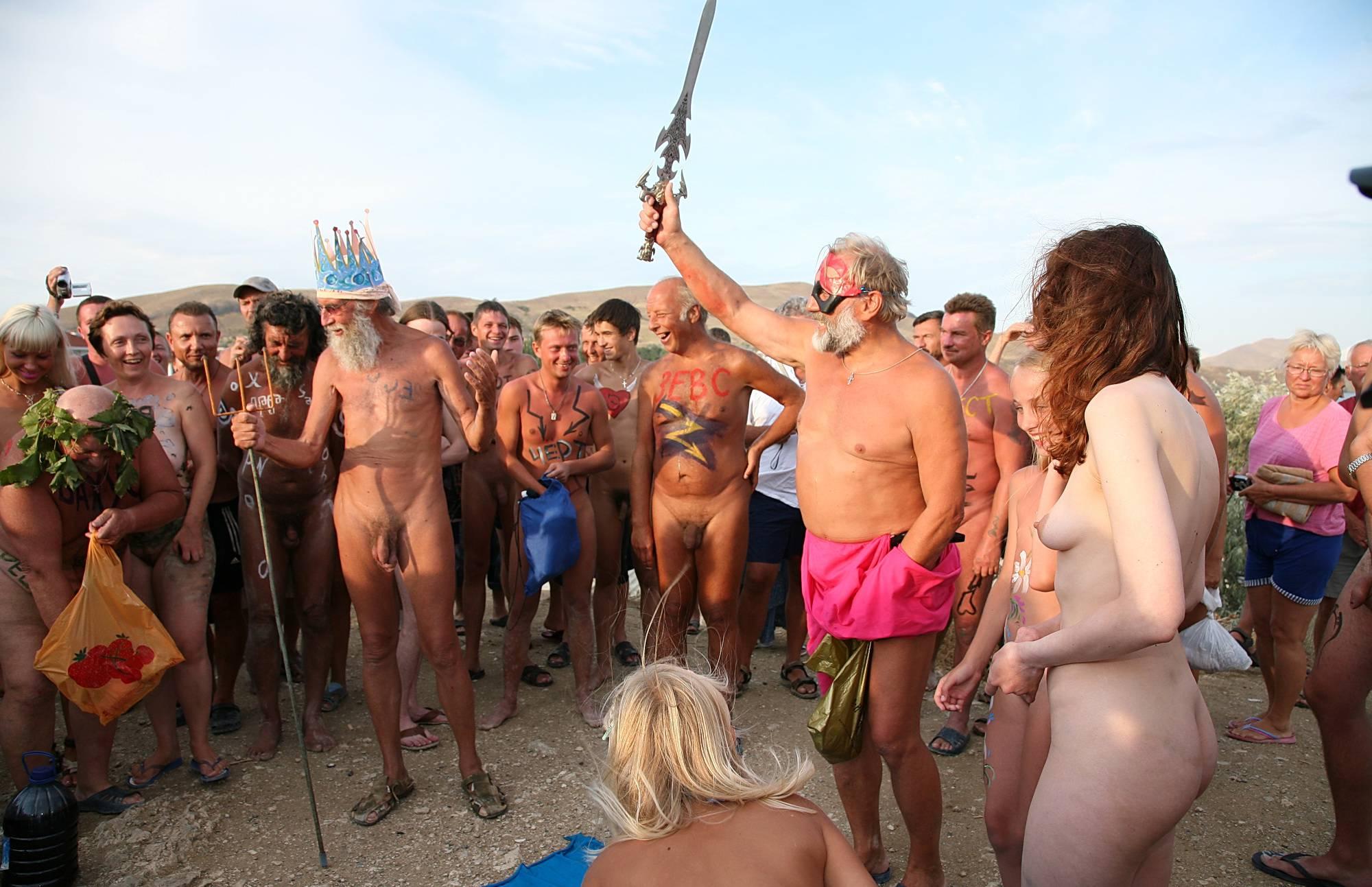 Purenudism Photos-Bright Beach Swordplay - 1