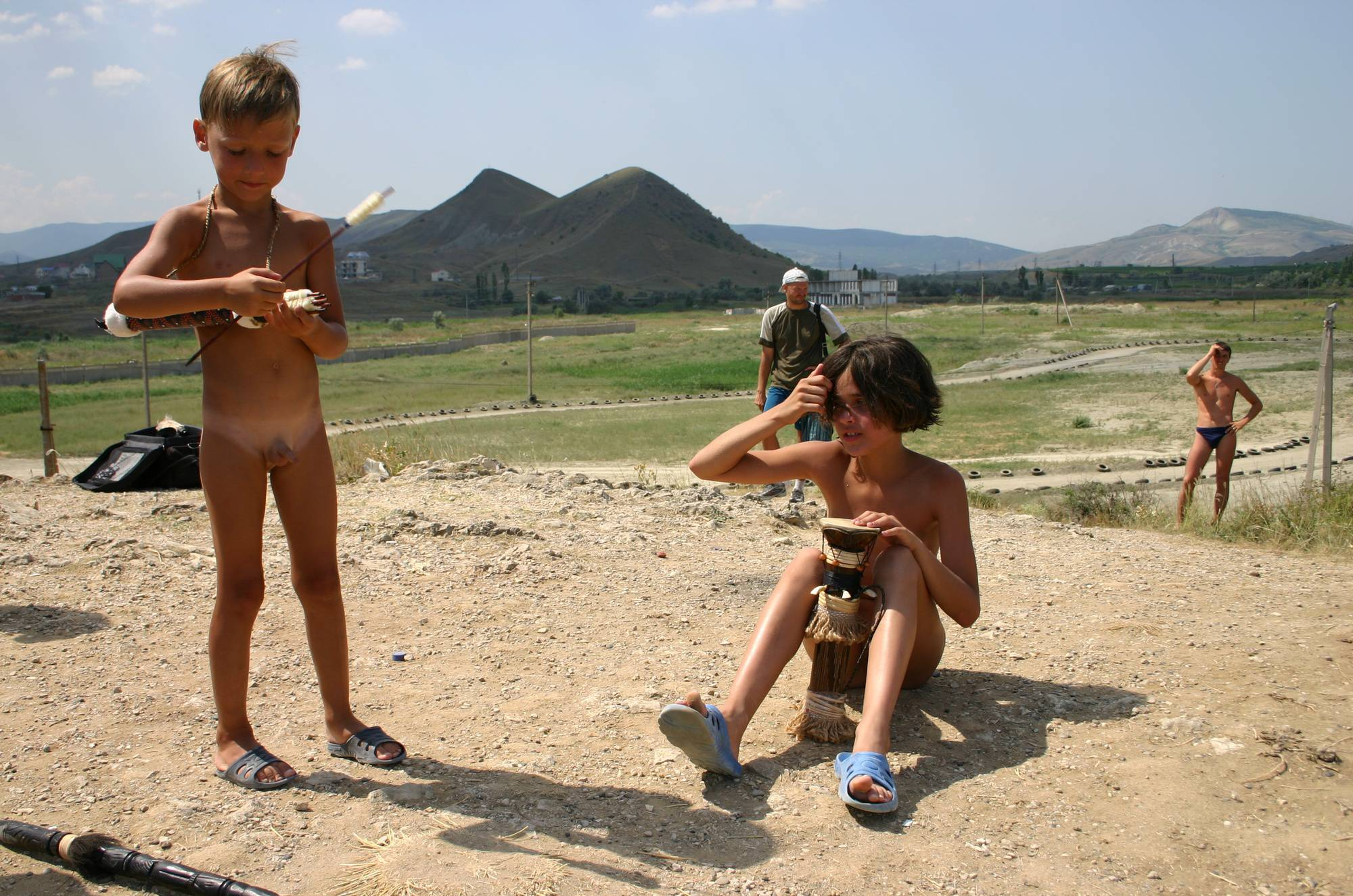 Pure Nudism Images-Crimea Nudist Drum Show - 1