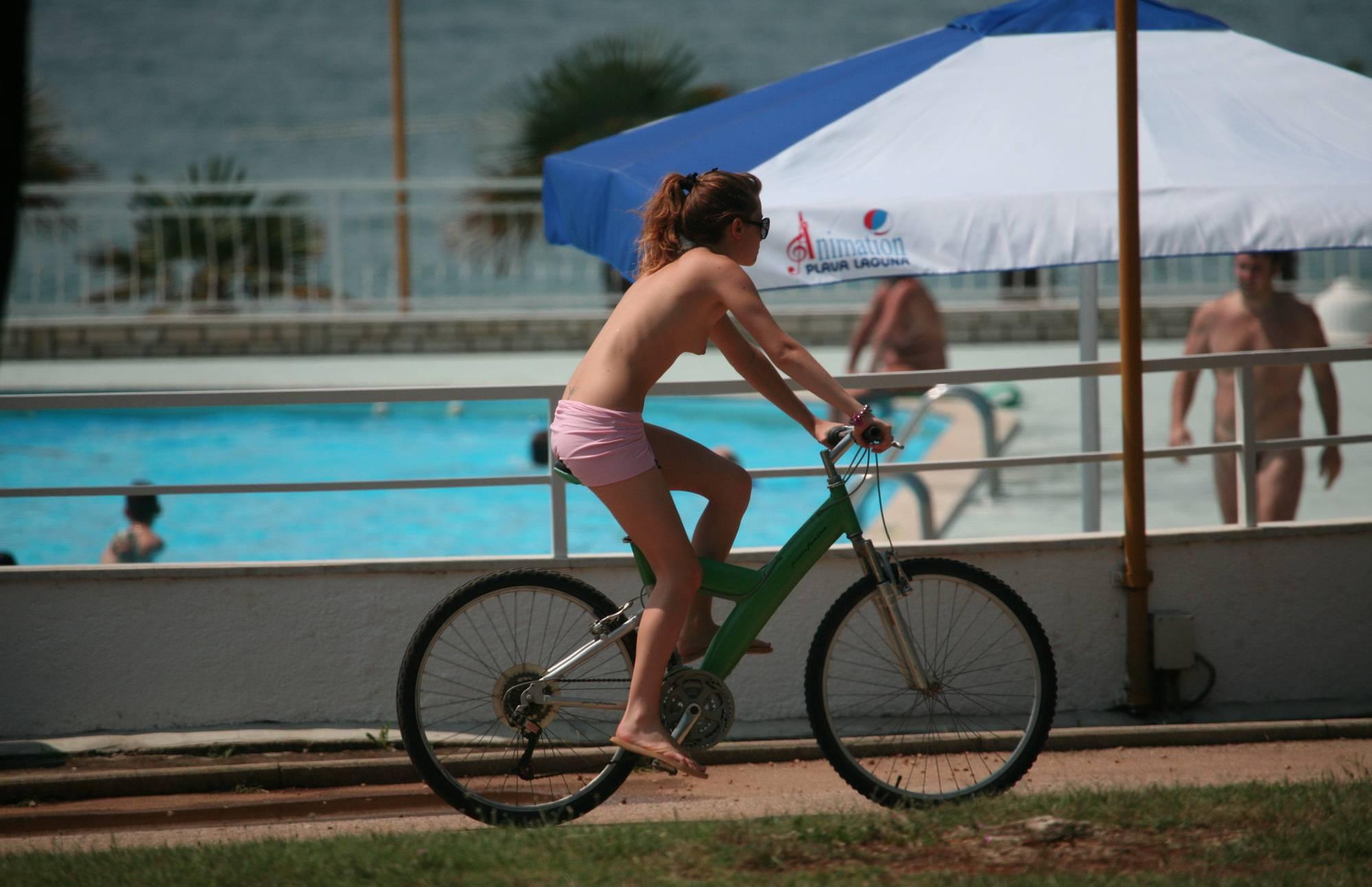 Purenudism-Naturist Poolside Biking - 1