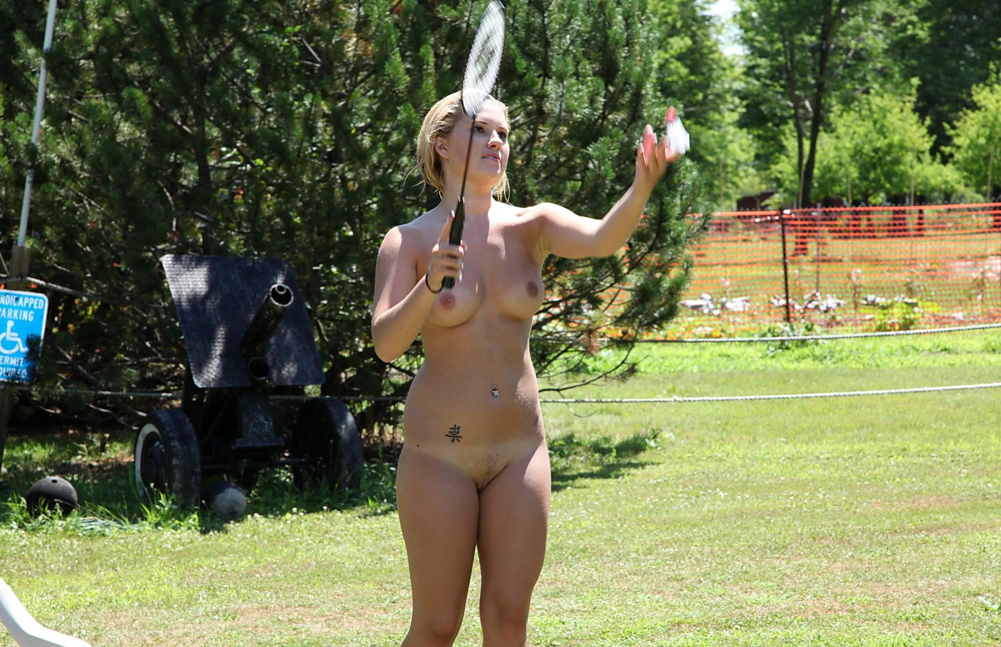 Purenudism Gallery-Nudist Badminton Game - 1