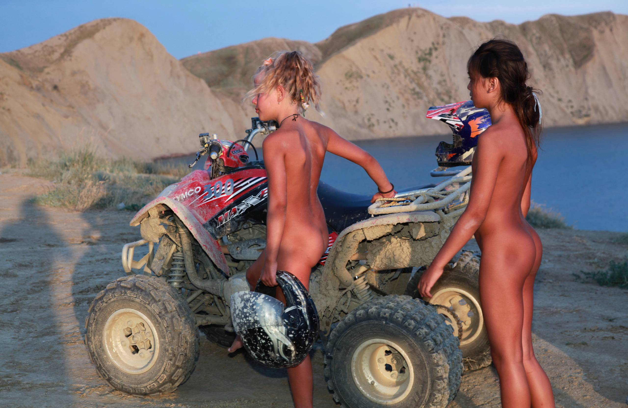 Pure Nudism Photos-Blue Sky ATV Riding - 1