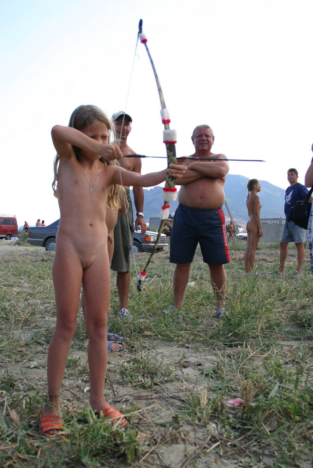 Pure Nudism Pics-Forest Front Arrow Family - 2