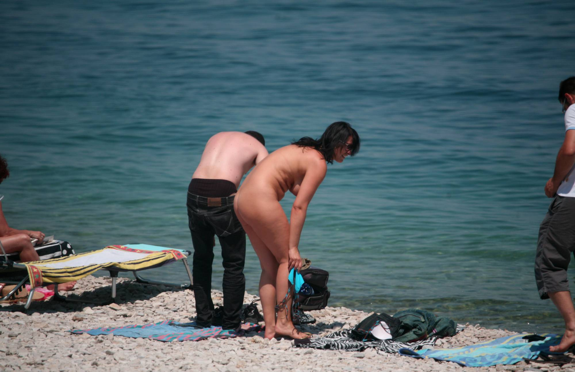 Pure Nudism Pics-Friends Came on a Beach - 2