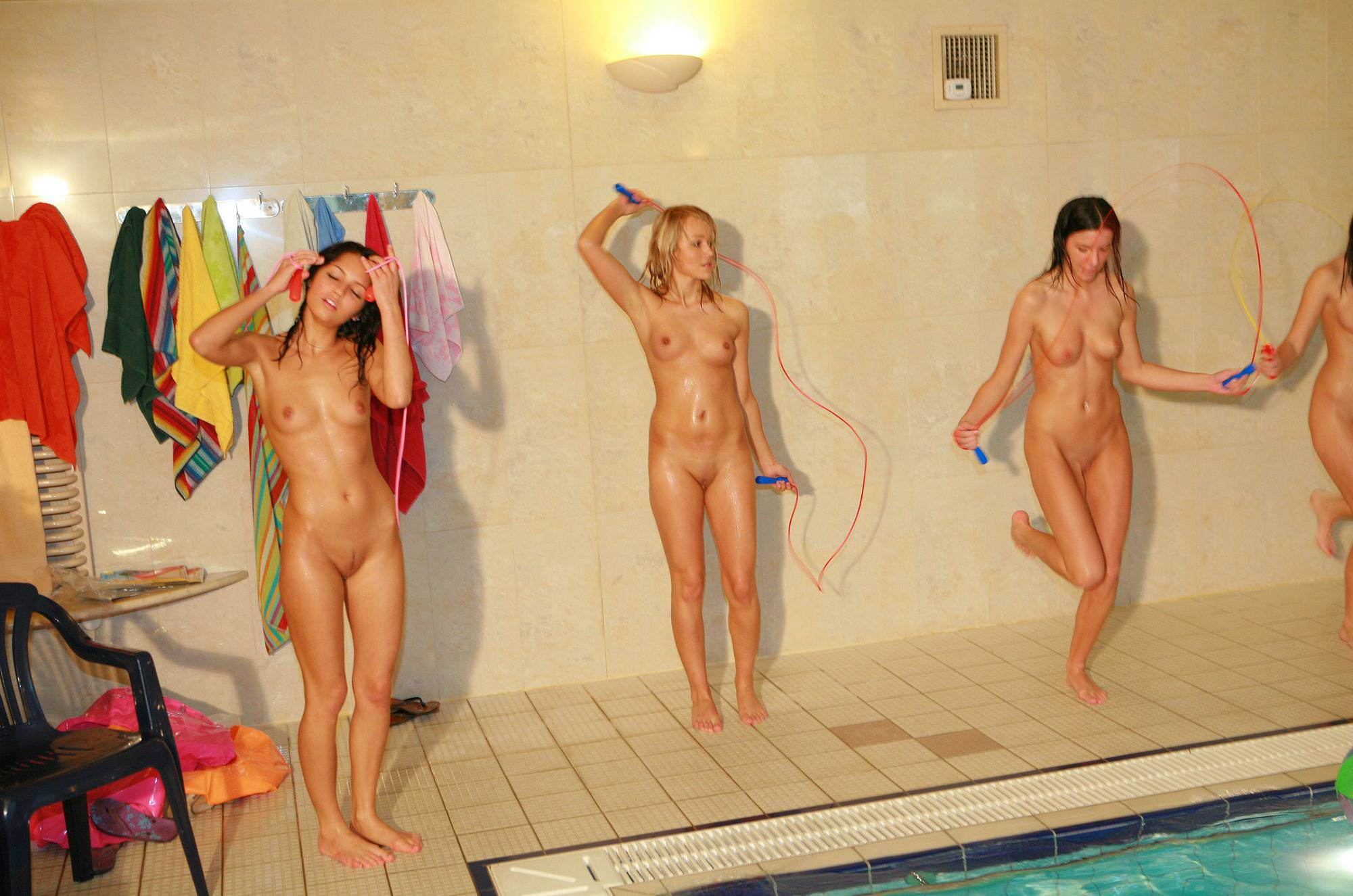 Pure Nudism Photos-Girls Pool Party Games - 1