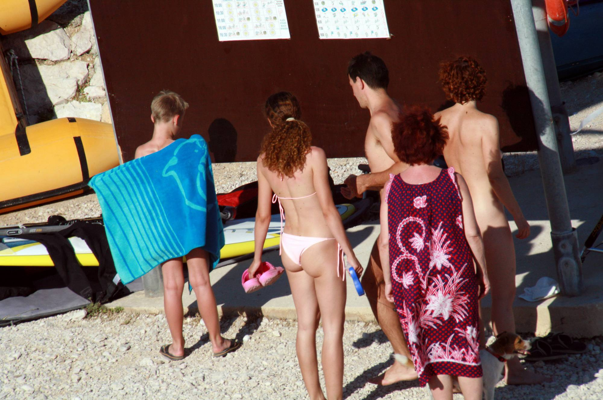 Pure Nudism Images-Nude Beach Resting Board - 3