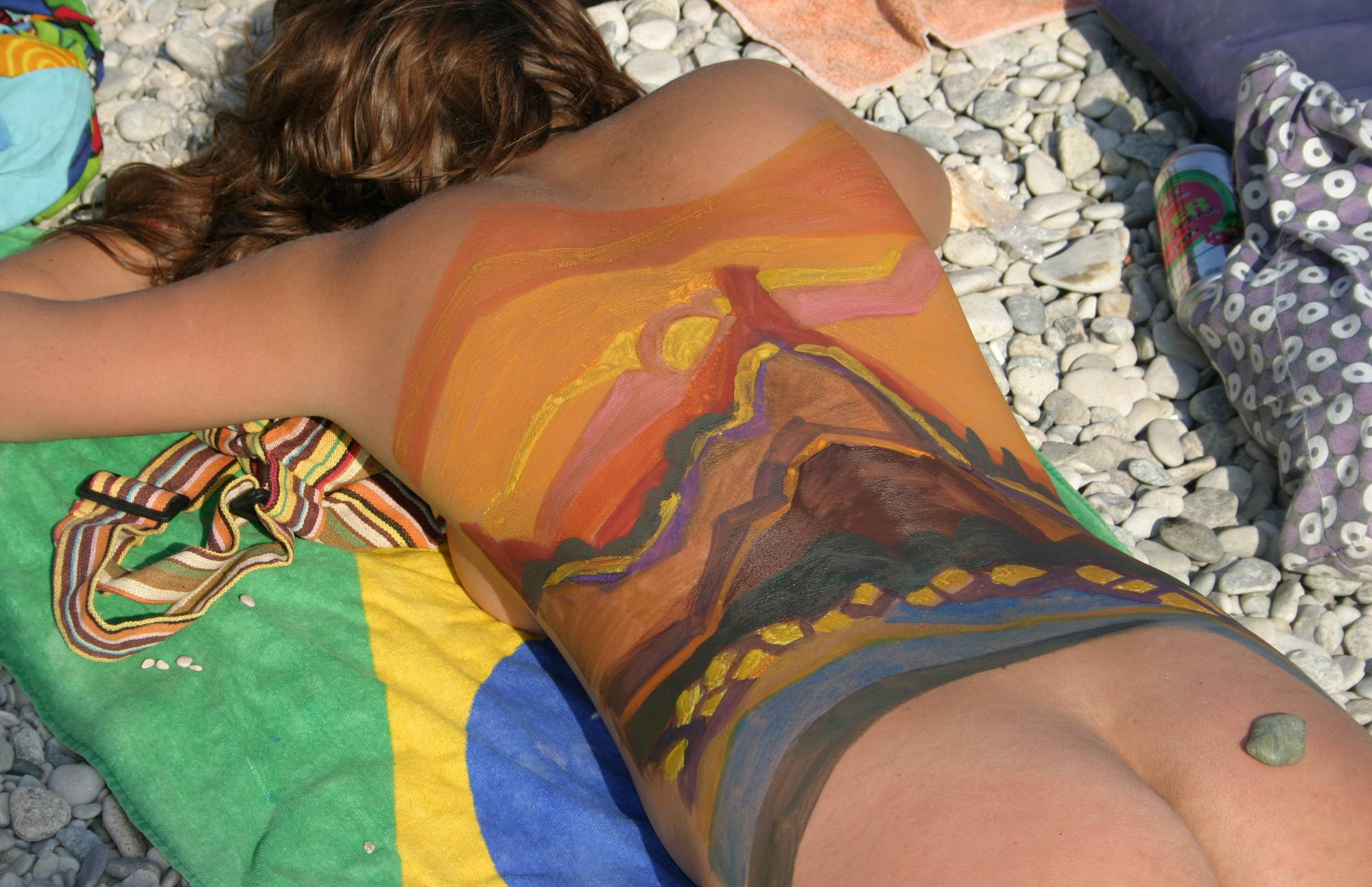 Pure Nudism Pics-Yellow Eye Body Painting - 2