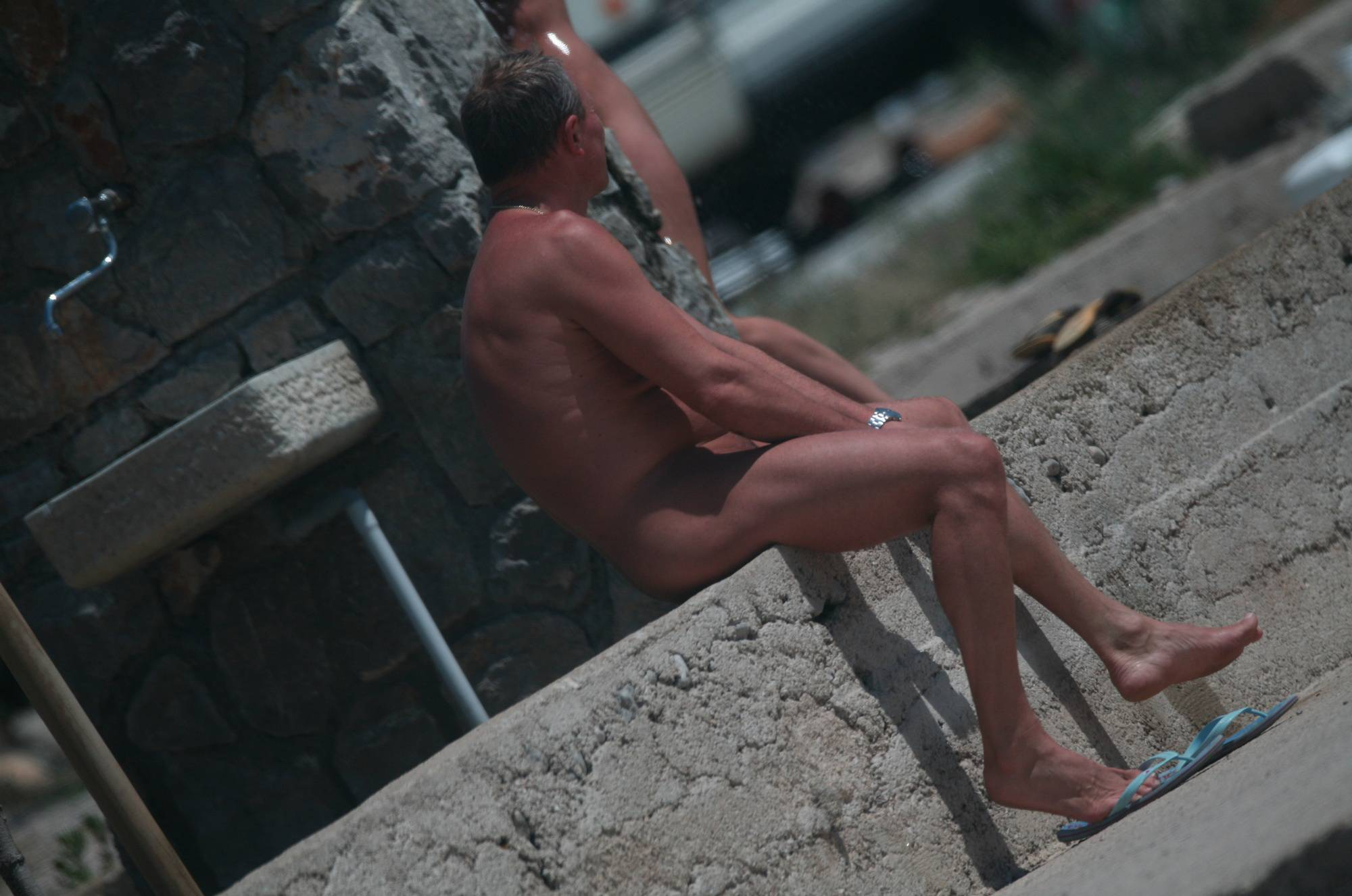 Pure Nudism Gallery-Stepping Stones To Ocean - 3