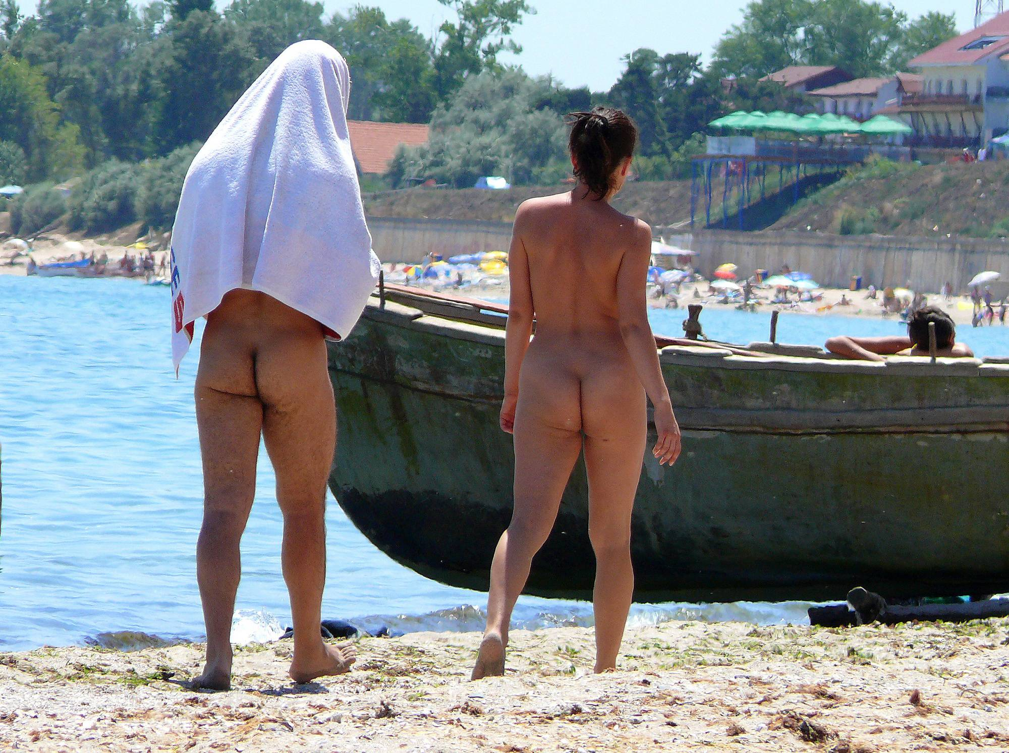 Pure Nudism Images-Romanian Sand Couple - 1