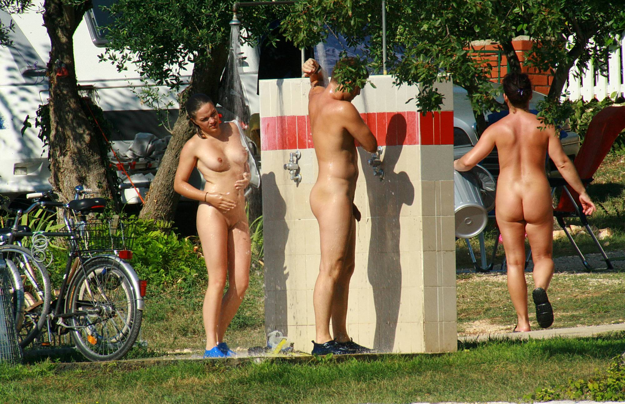 Pure Nudism Photos Shower By The Flower - 1