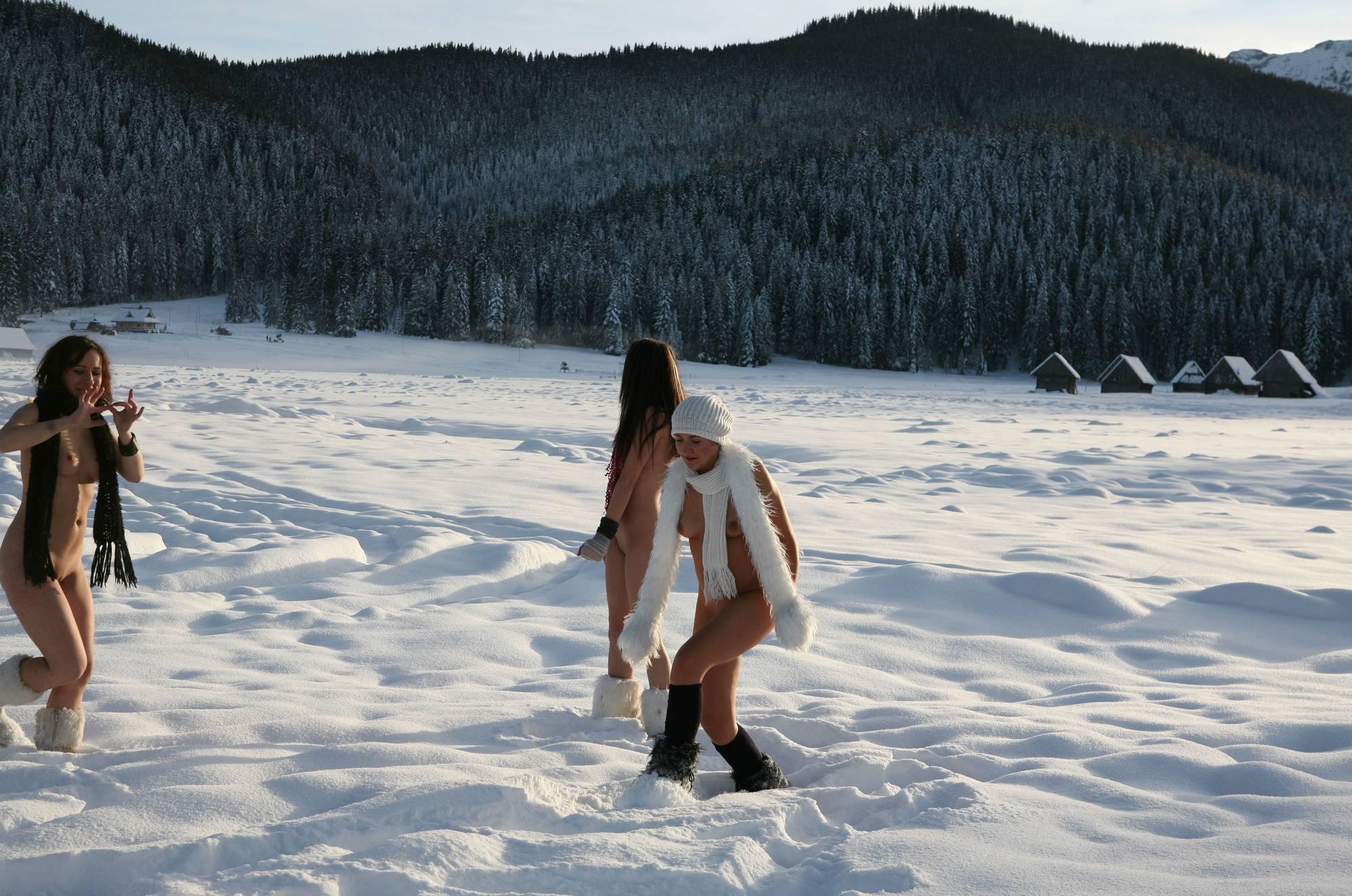 Snow Day Girls Snow Play - 4
