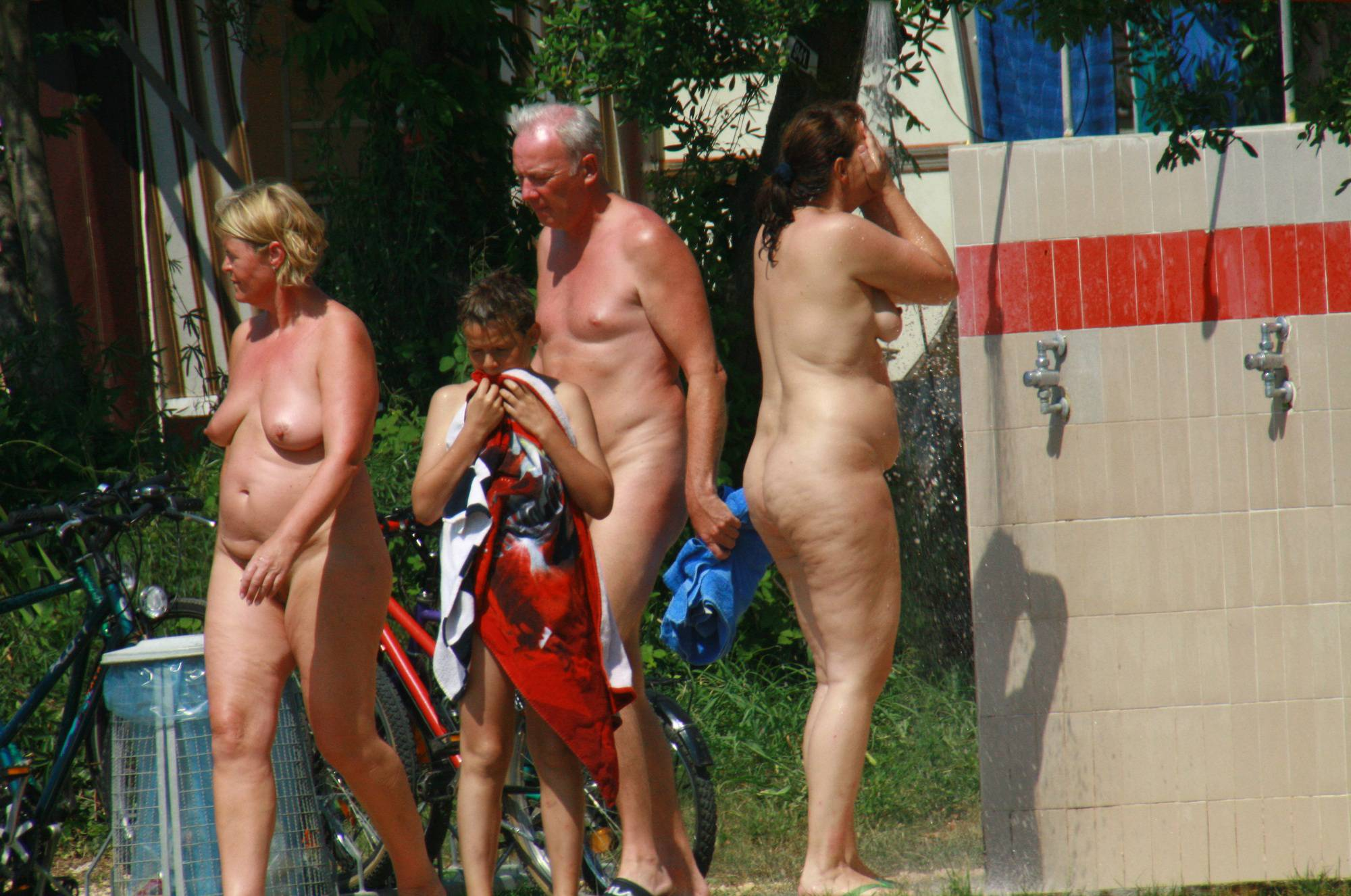 Pure Nudism-Son and Mother Beach Walk - 3