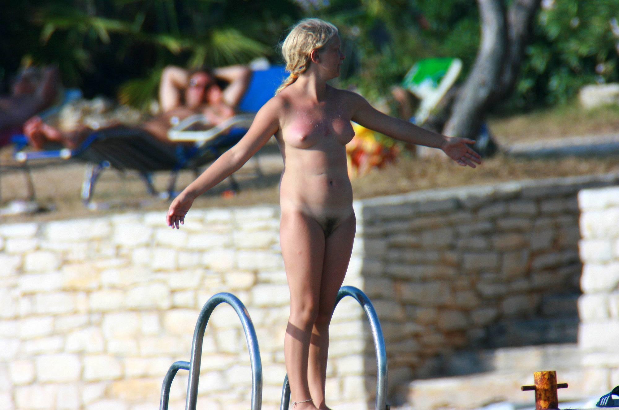 Pure Nudism Pics-Ula FKK Mom's Braided Girl - 3