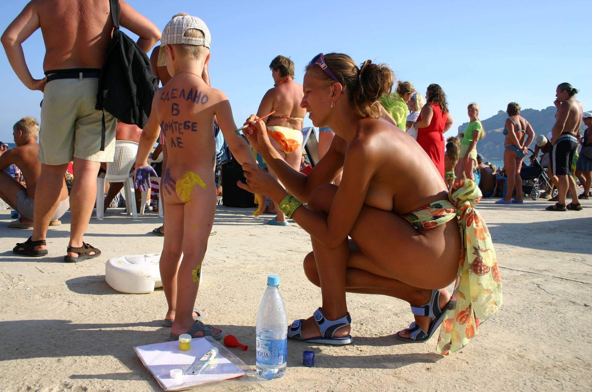 Purenudism Pics-Young Child Gets Painted - 1